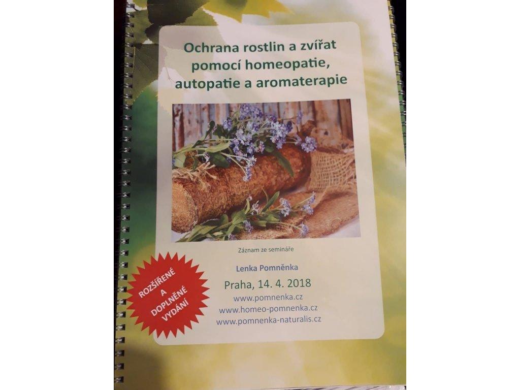 0011002 skripta ochrana rostlin a zvirat pomoci homeopatie autopatie a aromaterapie lenka pomnenka zaznam z