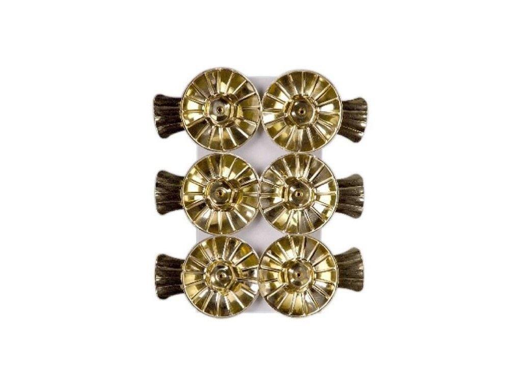 0008471 skripec na vanocni svicku zlaty sada 6 ks