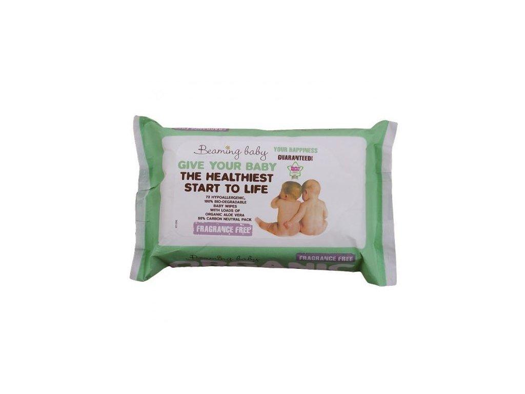 0005424 beaming baby organicke vlhcene ubrousky bez vune 72 ks