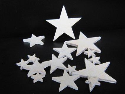 0011566 drevene hvezdy sada 15 ks