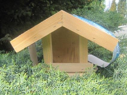 Krmítko pro ptáky dřevěné č. 4 přírodní