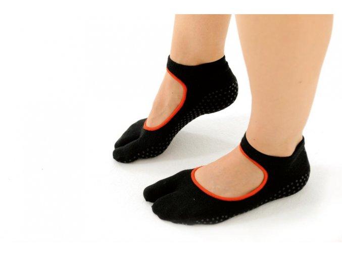 Ponožky na Pilates a jógu jednoprstové