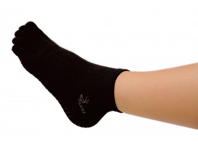 Protišmykové ponožky na Pilates prstové