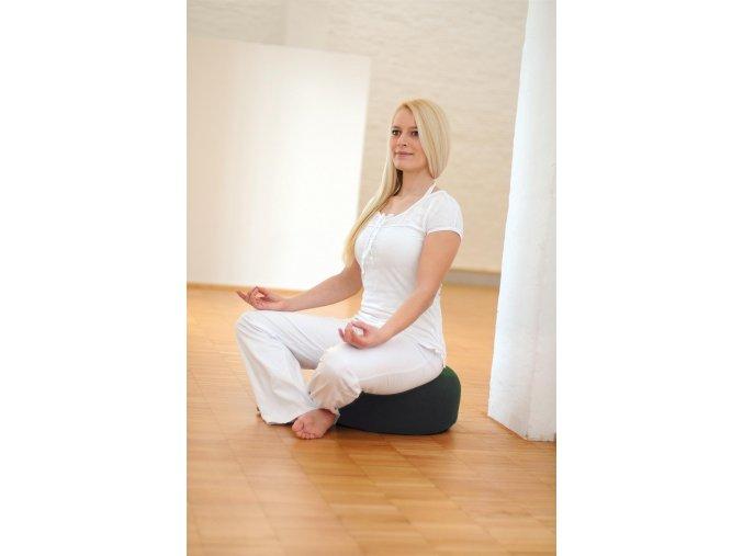 Relaxačný vankúš na jógu bordó