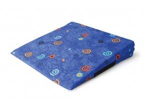 Klinová podložka na sedenie modrá