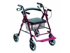 4 kolesové chodítko a transportný vozík (2 v 1) Garcia