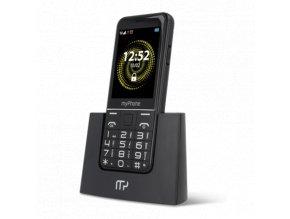 Mobilny telefon pre seniorov myPhone Halo Q cierny