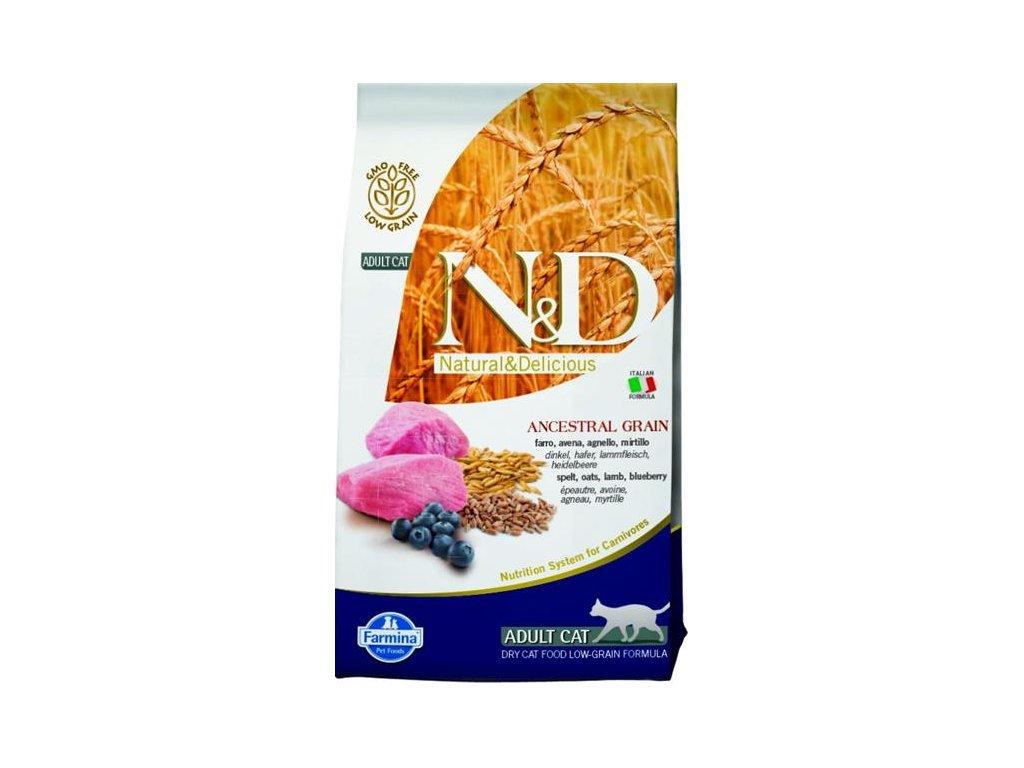 Farmina N&D cat LG adult lamb,spelt,oats&blueberry 1,5 kg