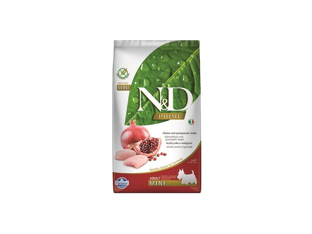 Farmina N&D dog PRIME adult mini Chicken & pomegranate 2,5 kg