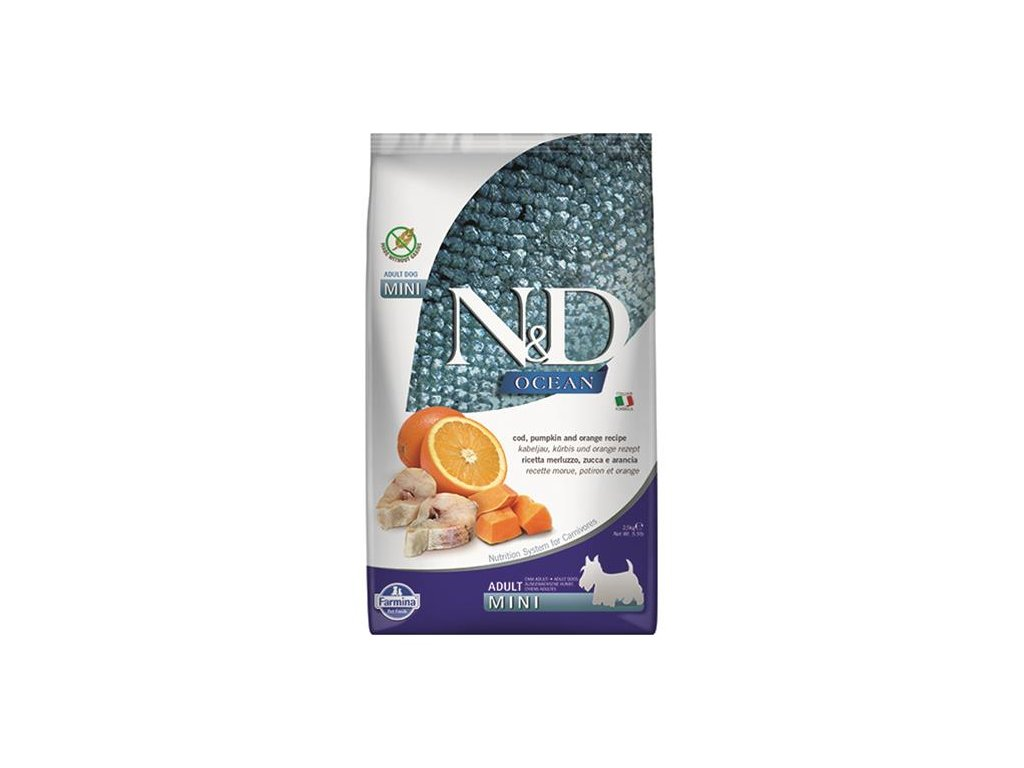Farmina N&D dog OCEAN PUMPKIN adult mini codfish & orange 2,5 kg