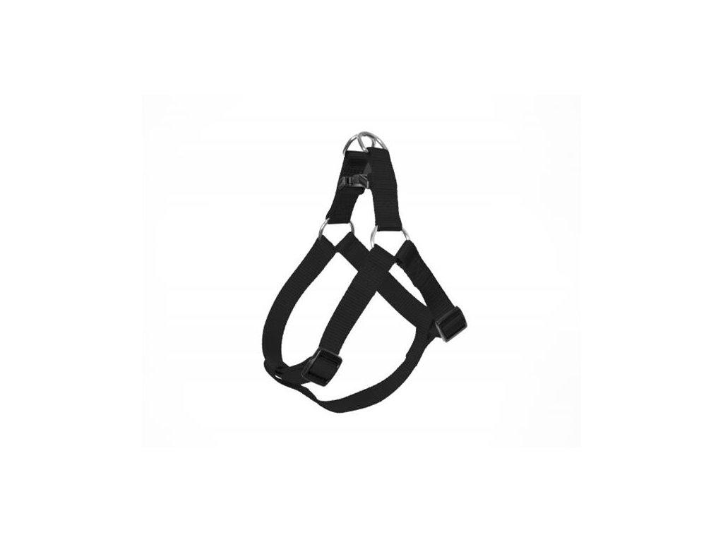 Postroj DUVO+ nylon čierny 40-50 cm/ 15 mm