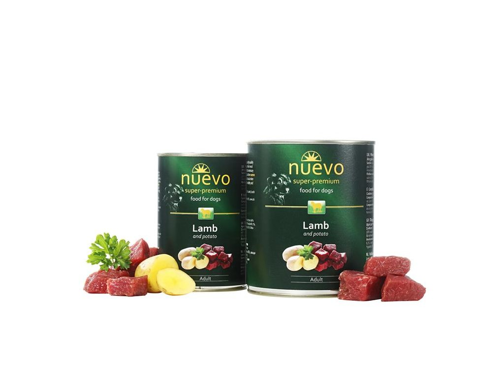 NUEVO dog Adult Lamb & Potato 400 g konzerva
