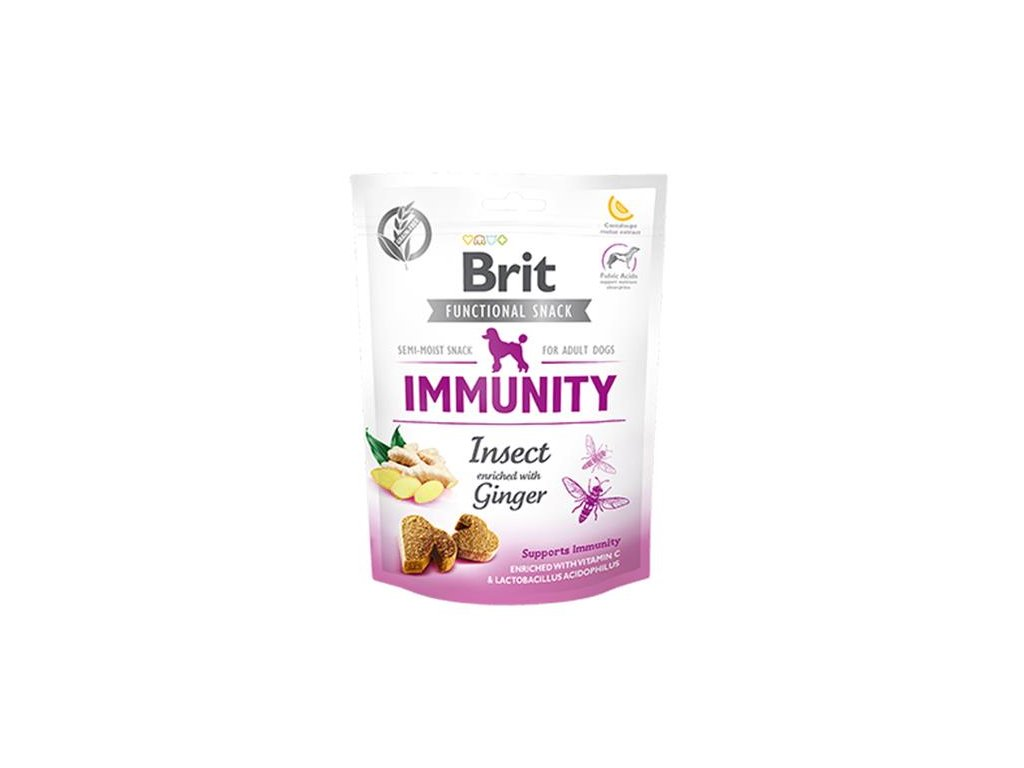 Pamlsok Brit Care Dog Functional Snack Immunity Insect 150 g