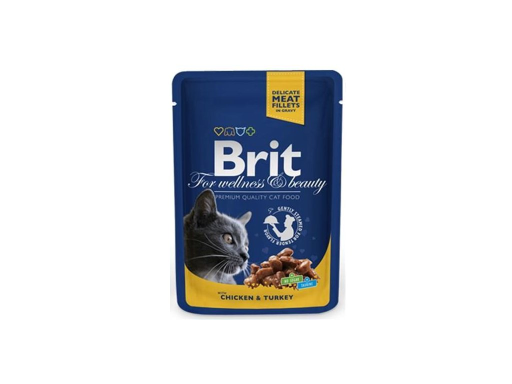 BRIT Premium cat Kapsička Adult Chicken & Turkey 100 g