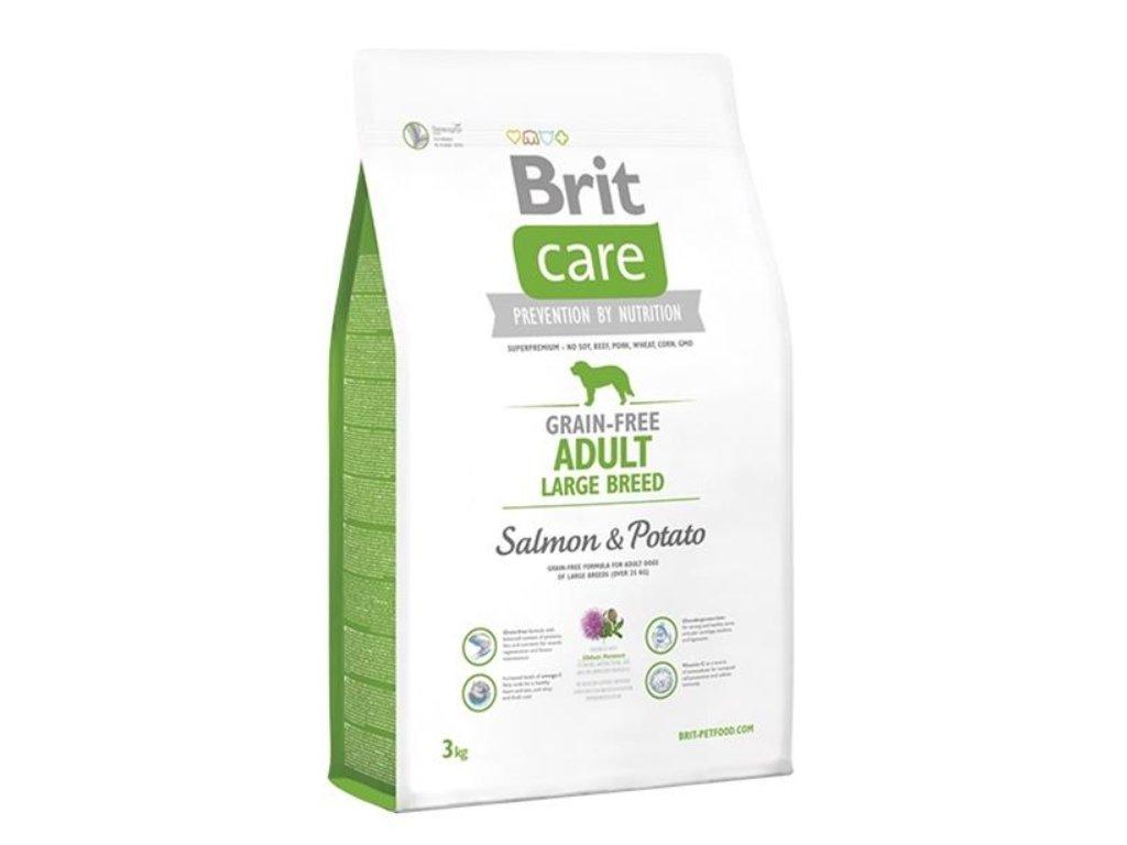 BRIT Care dog Grain free Adult Large Breed Salmon & Potato 3 kg
