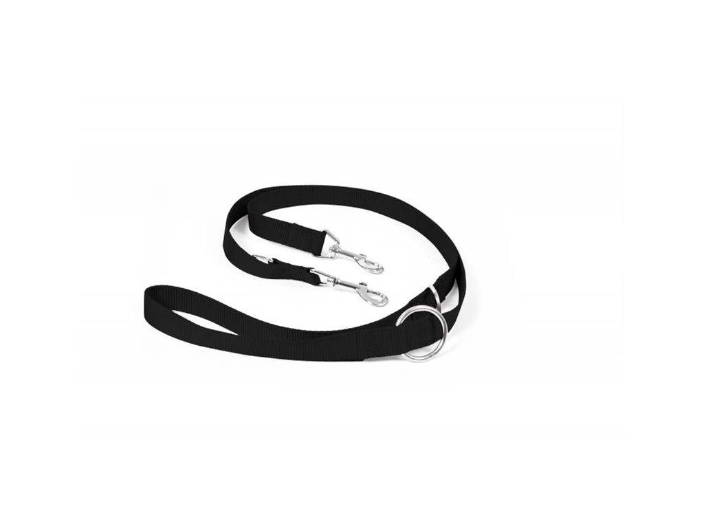 Vodítko DUVO+ Nylon Nastaviteľné čierne 200 cm/ 25 mm