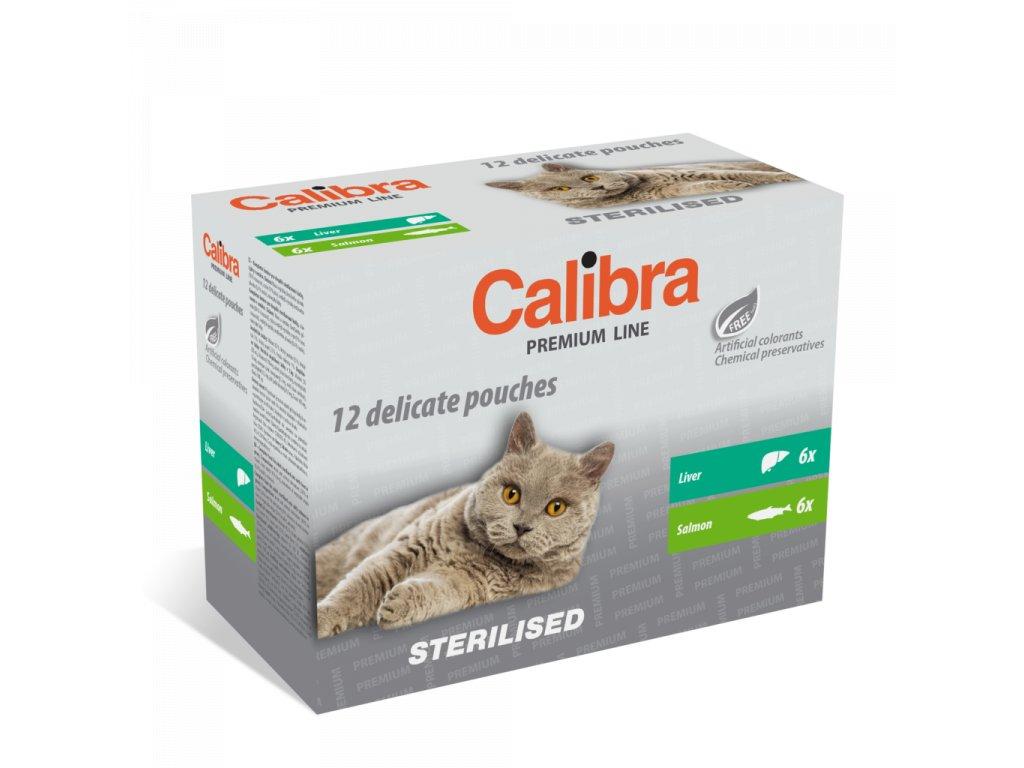 Calibra KAPSIČKA Premium cat Sterilised Multipack 12 x 100 g