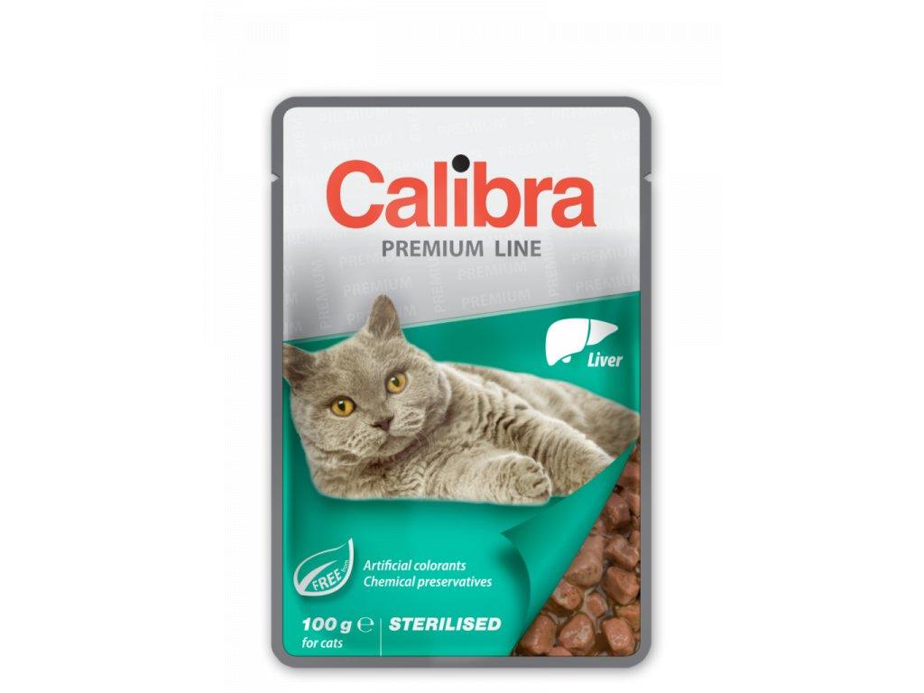 Calibra KAPSIČKA Premium cat Sterilised Pečeň v omáčke 100 g
