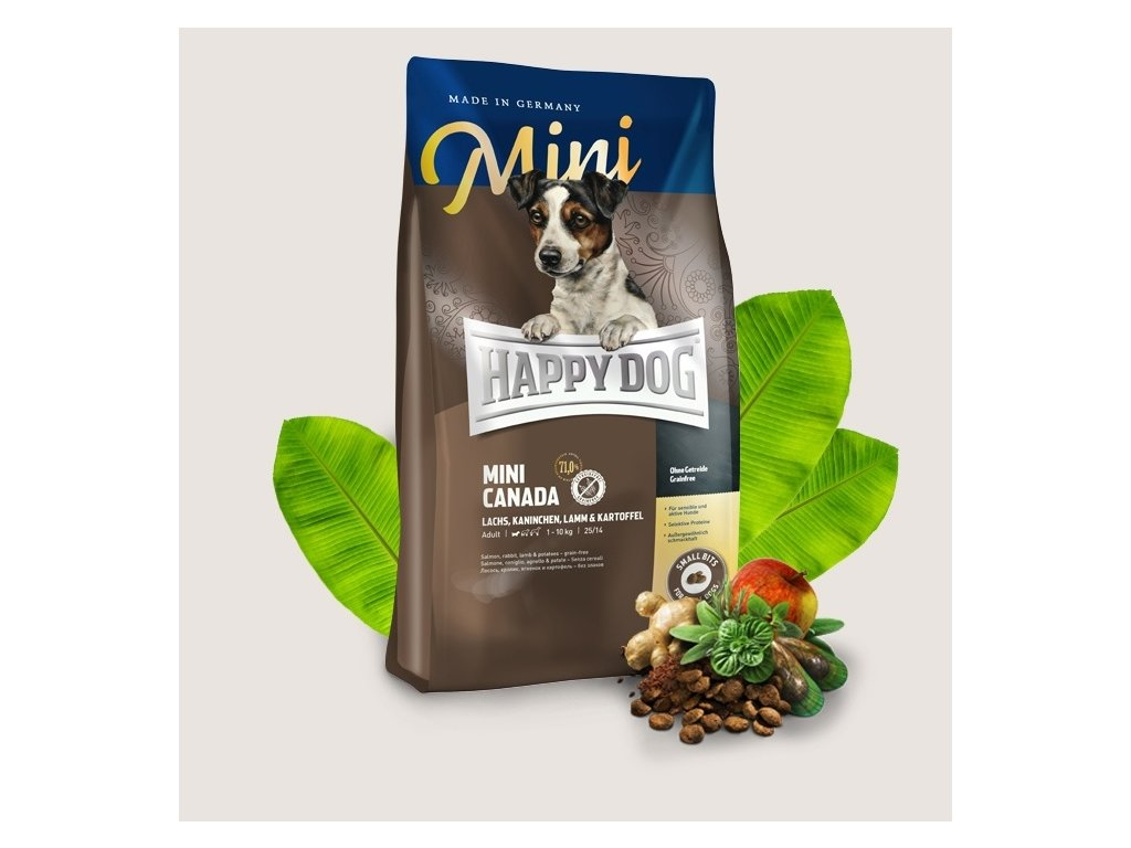 happy dog trockenfutter hund mini canada header