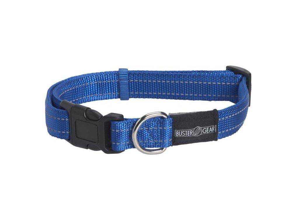Obojok BUSTER reflexný, nastaviteľný, 2,5x45-65 cm, modrý