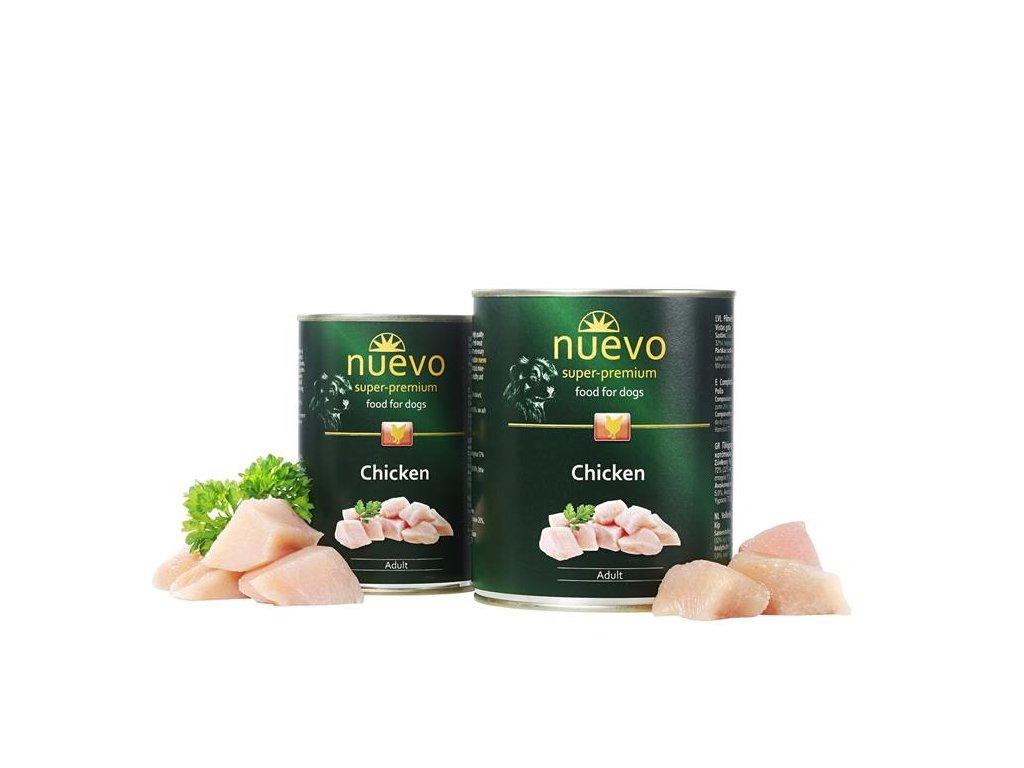 NUEVO dog Adult Chicken 800 g konzerva