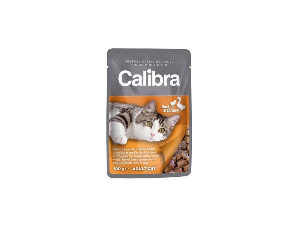 Calibra KAPSIČKA Premium cat Adult Kačka & kura v omáčke 100 g