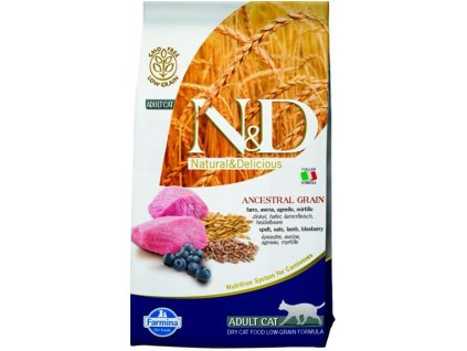 Farmina N&D cat LG adult lamb,spelt,oats&blueberry 1,5 kg