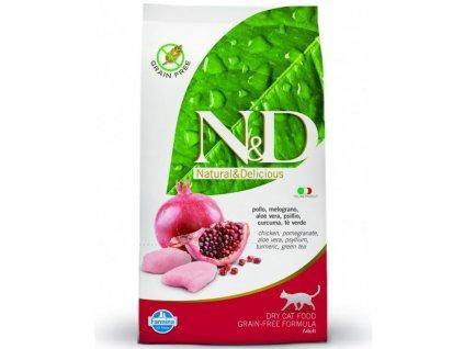 Farmina N&D cat GF adult chicken& pomegranate 5 kg