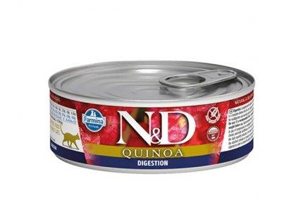 Farmina N&D cat QUINOA Digestion konzerva 80 g