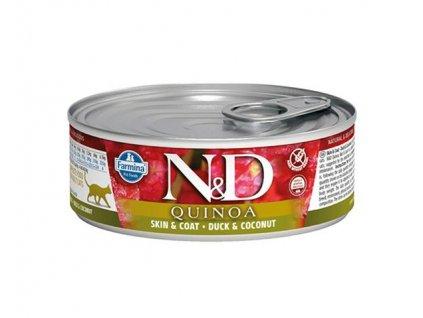 Farmina N&D cat QUINOA Duck & Coconut konzerva 80 g