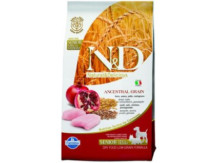 Farmina N&D dog LG Senior small&medium chicken&pomegranate 2,5 kg