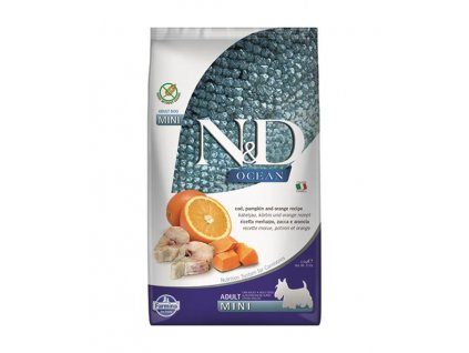Farmina N&D dog OCEAN PUMPKIN adult mini codfish & orange 2,5 kg