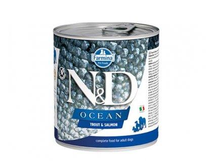 Farmina N&D dog OCEAN Trout & Salmon konzerva 285 g