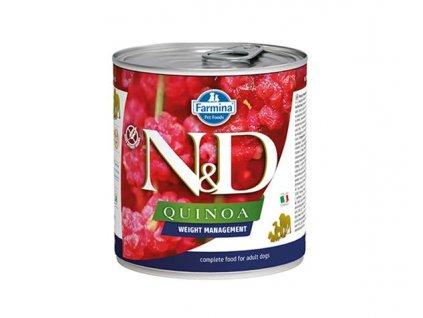 Farmina N&D dog QUINOA Weight management konzerva 285 g