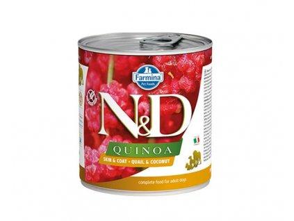 Farmina N&D dog QUINOA Quail & Coconut konzerva 285 g