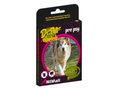Obojok Dr.Pet pre psy 75 cm antiparazitárny HNEDÝ s repelentným účinkom (tick and flea repellent collar for dogs)