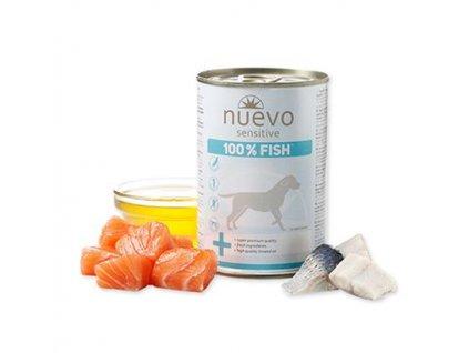 NUEVO dog Sensitive 100% Fish 375 g konzerva