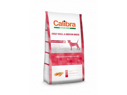Calibra Dog GF HA Adult Small & Medium Breed Salmon 12 kg