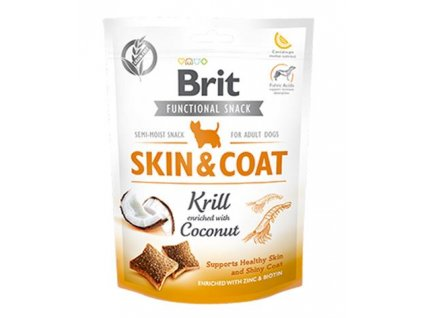 Pamlsok Brit Care Dog Functional Snack Skin and Coat Krill 150 g