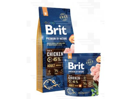 Brit Premium by Nature dog Adult M 15 kg