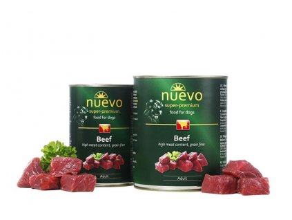 NUEVO dog Adult Beef 800 g konzerva