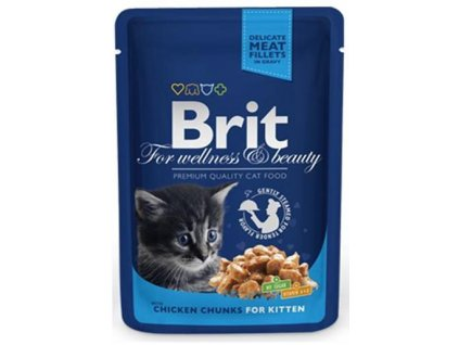 BRIT Premium cat Kapsička Kitten Chicken Chunks 100 g