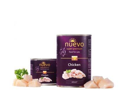 NUEVO cat Adult Chicken 400 g konzerva