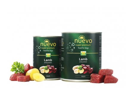 NUEVO dog Adult Lamb & Potato 800 g konzerva
