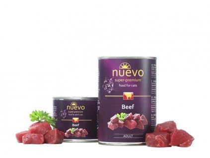 NUEVO cat Adult Beef 400 g konzerva