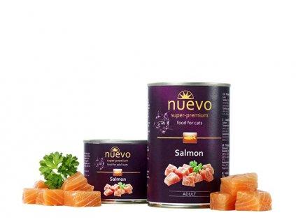NUEVO cat Adult Salmon 400 g konzerva