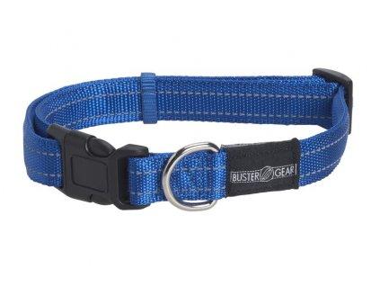 Obojok BUSTER reflexný, nastaviteľný, 1,5x28-40 cm, modrý