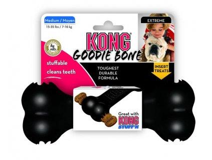 Hračka Kong guma Extreme Kosť čierna M