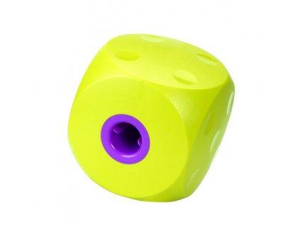 Hračka BUSTER interaktívna kocka, pre psa nad 10 kg, limetkovo zelená