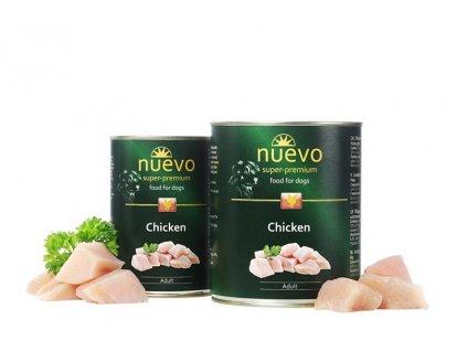NUEVO dog Adult Chicken 400 g konzerva